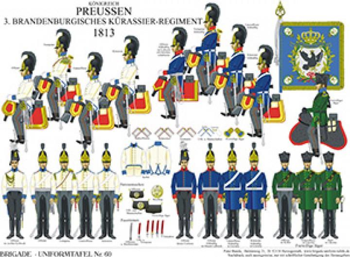 Tafel 60: Königreich Preußen: Brandenburgisches Kürassier-Regiment Nr.3 1813