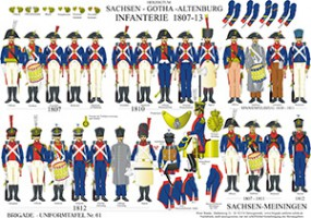 Tafel 61: Herzogtümer Sachsen-Gotha-Altenburg und Sachsen-Meiningen: Infanterie 1807-1813