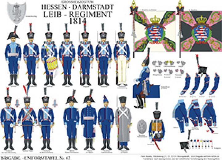 Tafel 67: Großherzogtum Hessen-Darmstadt: Leib-Regiment 1814