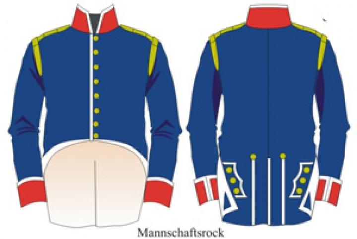 Tafel 75: Königreich Portugal: Kavallerie-Regiment No.4 Mecklemburg 1806-1814
