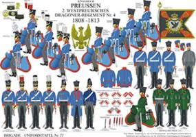 Tafel 77: Königreich Preußen: 2. Westpreußisches Dragoner-Regiment Nr.4 1808-1813