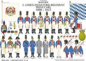 Tafel 82: Königreich Bayern: 3. Linien-Infanterie-Regiment Prinz Carl 1808-1813