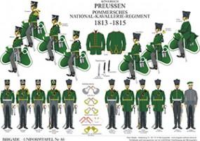 Tafel 85: Königreich Preußen: Pommersches National-Kavallerie-Regiment 1813-1815