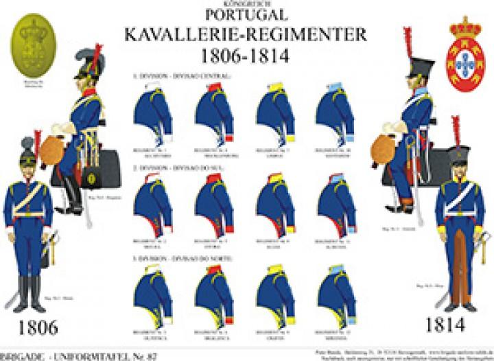 Tafel 87: Königreich Portugal: Die Kavallerie-Regimenter 1806-1814 (Übersicht)