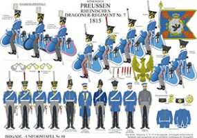 Tafel 89: Königreich Preußen: Rheinisches Dragoner-Regiment No.7 1815
