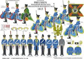 Tafel 90: Königreich Preußen: Magdeburgisches Dragoner-Regiment No.8 1815