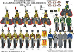 Tafel 103: Königreich Preußen: Husaren-Regiment No.4 (1. Schlesisches) 1808-1814