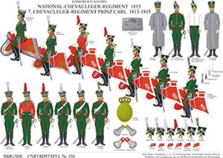 Tafel 104: Königreich Bayern: National-Chevauleger-Regiment 1813