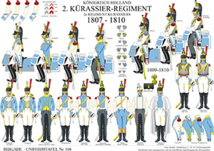 Tafel 108: Königreich Holland: 2. Kürassier-Regiment 1807-1810