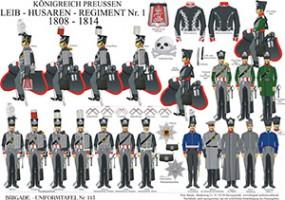 Tafel 113: Königreich Preußen: 1. Leib-Husaren-Regiment 1808-1815