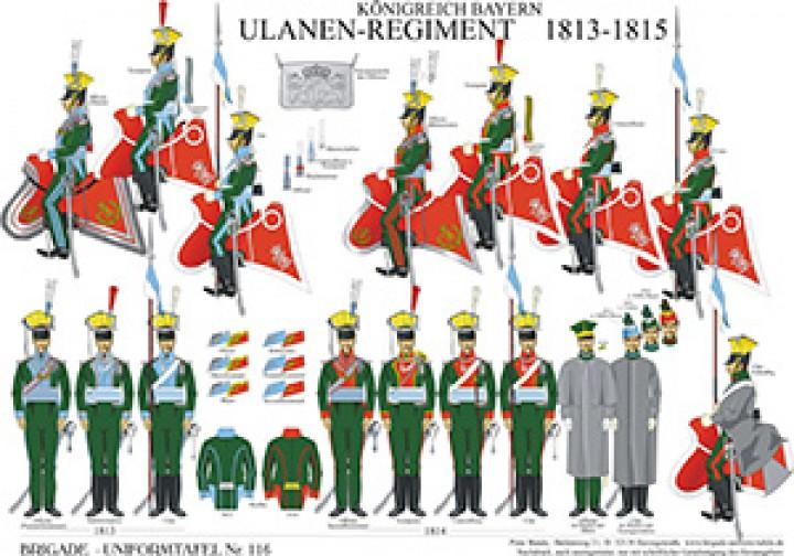 Tafel 116: Königreich Bayern: Ulanen-Regiment 1813-1815