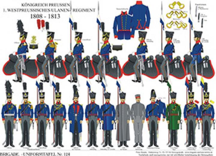 Tafel 124: Königreich Preußen: 1. Westpreußisches Ulanen-Regiment 1808-1813