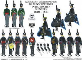Tafel 126: Königreich Großbritannien: Braunschweiger in britischen Diensten 1810-1813