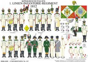 Tafel 127: Königreich Italien: 1. Linien-Infanterie-Regiment 1812