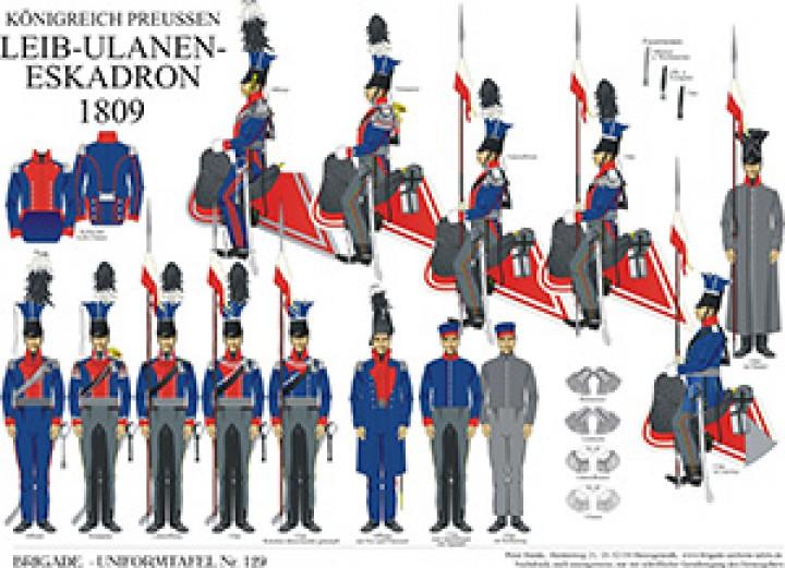 Tafel 129: Königreich Preußen: Leib-Ulanen-Eskadron 1809
