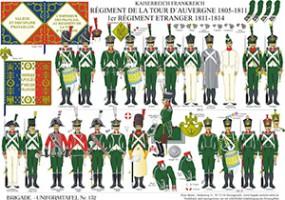 Tafel 132: Kaiserreich Frankreich: Régiment de la Tour d´Auvergne 1806-1811 / 1er Régiment Etranger