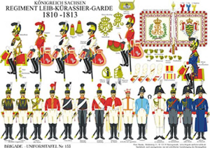 Tafel 133: Königreich Sachsen: Leib-Kürassier-Garde 1810-1813