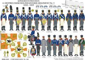 Tafel 145: Königreich Preußen: 4. Ostpreußisches Infanterie-Regiment No.5 1810-1815