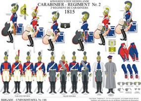 Tafel 148: Königreich der Niederlande: 2. Carabinier-Regiment 1815