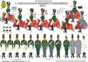 Tafel 153: Königreich Bayern: 3. Chevauleger-Regiment Kronprinz 1812