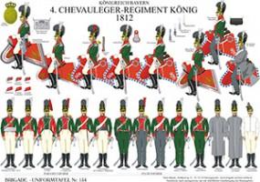 Tafel 154: Königreich Bayern: 4. Chevauleger-Regiment König 1812