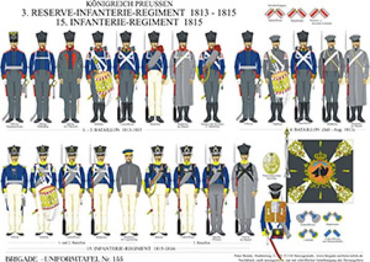 Tafel 155: Königreich Preußen: 3. Reserve-Infanterie-Regiment 1813-1815