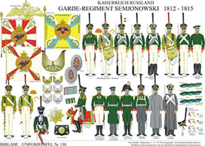 Tafel 159: Kaiserreich Russland: Garde-Infanterie-Regiment Semjonowski 1812-1815