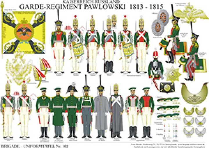 Tafel 162: Kaiserreich Russland: Garde-Regiment Pawlowski 1813-1815