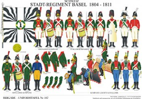 Tafel 167: Schweiz: Stadtregiment Basel 1804-1811