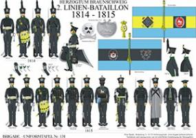 Tafel 176: Herzogtum Braunschweig: 2. Linien-Bataillon 1814-1815