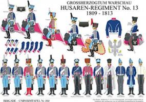 Tafel 202: Großherzogtum Warschau: Husaren-Regiment No.13 1809-1813