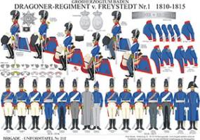 Tafel 212: Großherzogtum Baden: Dragoner-Regiment v.Freystedt Nr.1 1810-1815