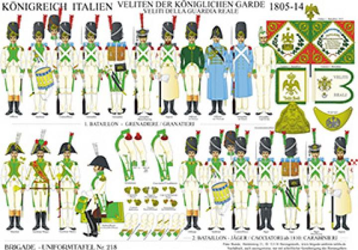 Tafel 218: Königreich Italien: Veliten der königlichen Garde 1805-1813