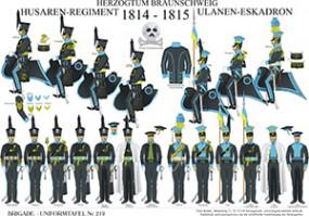 Tafel 219: Herzogtum Braunschweig: Husaren-Regiment und Ulanen-Eskadron 1814-1815