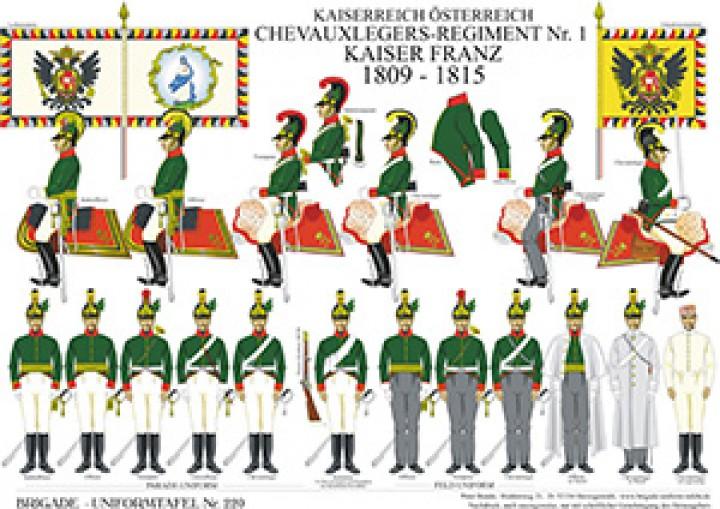 Tafel 220: Kaiserreich Österreich: Chevauxlegers-Regiment No.1 Kaiser Franz 1809-1815