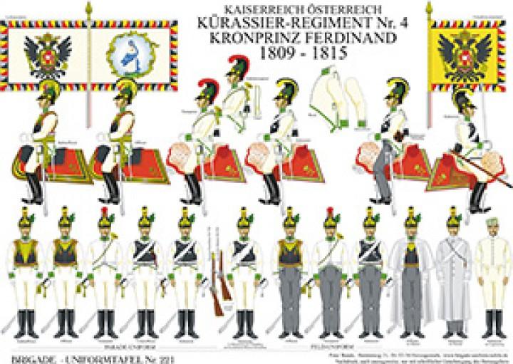 Tafel 221: Kaiserreich Österreich: Kürassier-Regiment No.4 Kronprinz Ferdinand 1809-1815