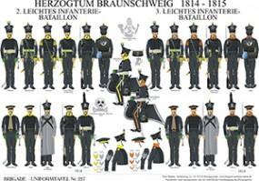 Tafel 227: Herzogtum Braunschweig: 2. und 3. Leichtes Infanterie-Bataillon 1814-1815