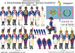 Tafel 230: Königreich Neapel: 4. Linien-Infanterie-Regiment Reale Sannita 1809-1811