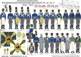 Tafel 231: Königreich Preußen: Kolbergsches Infanterie-Regiment No.10/No.9 1808-15