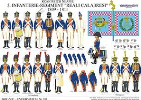 Tafel 233: Königreich Neapel: 5. Linien-Infanterie-Regiment Reali Calabresi 1809-1811