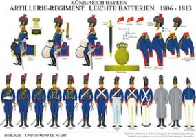 Tafel 247: Königreich Bayern: Artillerie-Regiment: Leichte Batterien 1806-1813