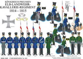 Tafel 255: Königreich Preußen: Elb-Landwehr-Kavallerie-Regiment 1814-1815