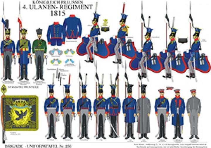 Tafel 256: Königreich Preußen: 4. Ulanen-Regiment 1815