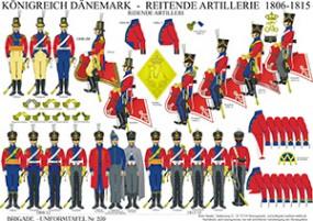 Tafel 259: Königreich Dänemark: Berittene Artillerie 1806-15