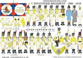 Tafel 260: Königreich Holland: 7. Infanterie-Regiment 1806-1810