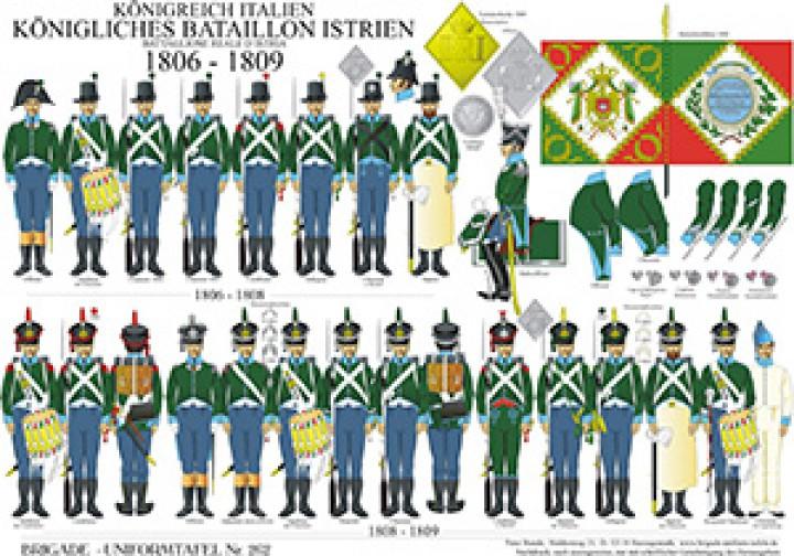 Tafel 262: Königreich Italien: Königliches Bataillon Istrien 1806-1809
