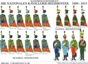 Tafel 266: Kaiserreich Österreich: Die nationalen Kavallerie-Regimenter 1809-1815 (Übersicht)