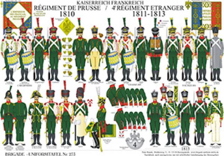Tafel 273: Kaiserreich Frankreich: Régiment de Prusse 1810 / 4e Régiment etranger 1811-1813
