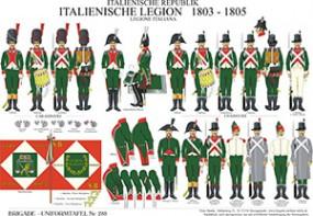 Tafel 288: Italienische Republik: Italienische Legion 1803-1805