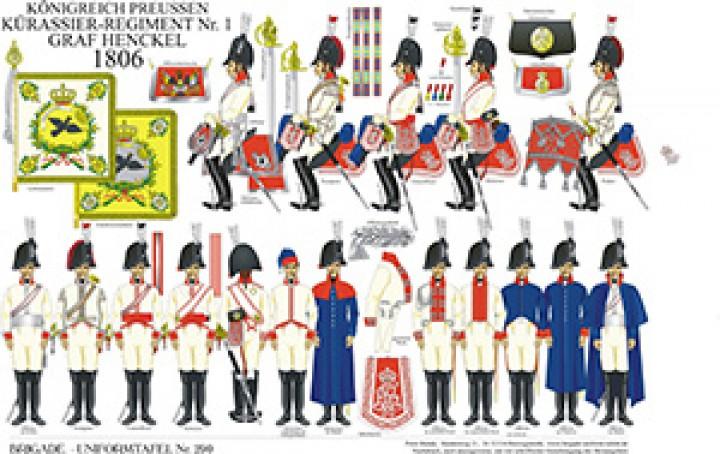 Tafel 290: Königreich Preußen: Kürassier-Regiment No.1 Graf Henckel 1806